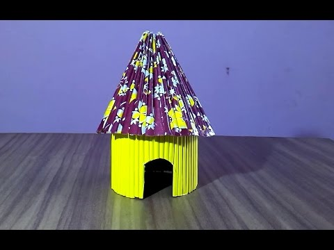 How to make a paper house very easy paper hut youtube - Make a house a home ...