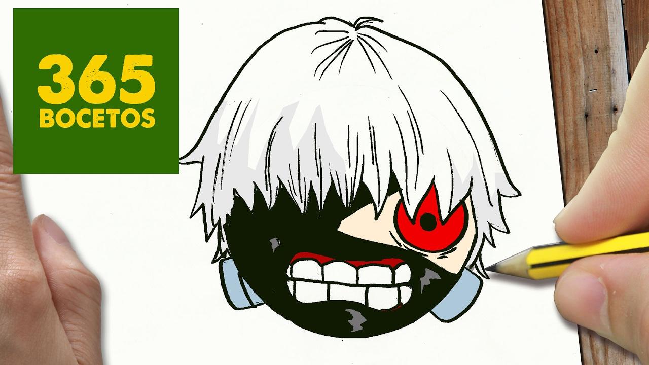 Tokyo Ghoul Dibujos Para Colorear: COMO DIBUJAR KANEKI TOKYO GHOUL KAWAII PASO A PASO