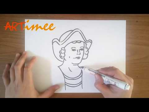 How To Draw Christopher Columbus
