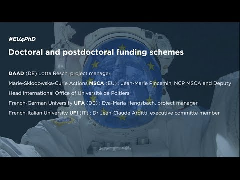 DOCTORAL & POSTDOCTORAL FUNDING SCHEMES (Part 1) #EU4PHD [Dec, 11th]