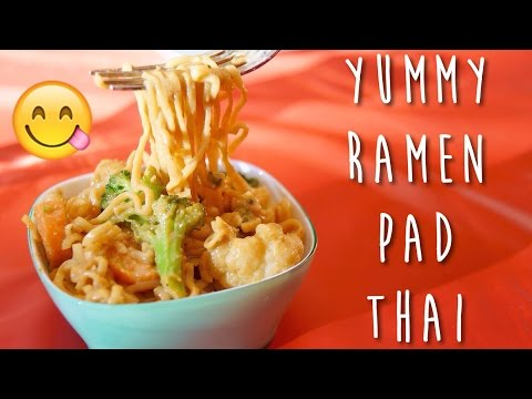 DIY FAST Pad Thai – Spice Up Your Ramen! | KKLemonCake