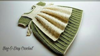 HOW TO CROCHET - TODDLER BABY DRESS Momma's Lil' Helper CROCHET DRESS BAGODAY CROCHET Tutorial #465