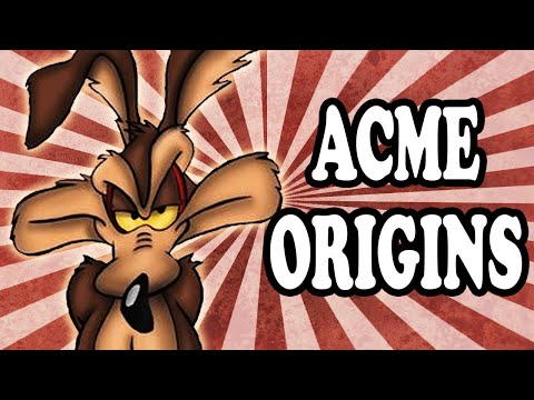 Where The Looney Tune S Acme Corporation Name Came From Youtube