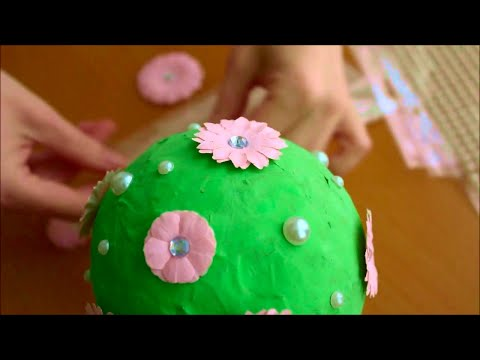 Paper mache from balloon - recycle project 🍀 SUBSCRIBE TY