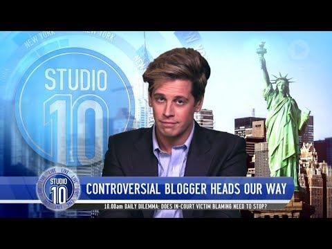 Milo Yiannopoulos Talks Free Speech, Feminism, Fake News & Australian Tour   Studio 10