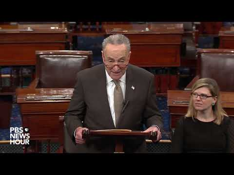WATCH: 'Only one person' to blame for government shutdown, Schumer says