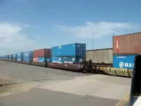Two Freight Trains Crossing Kiowa KS