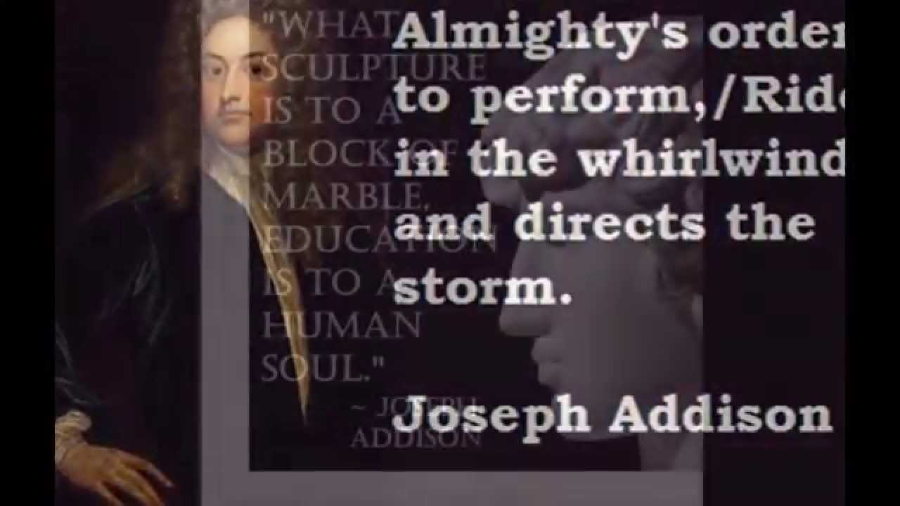 essayist with addison Introduction:-addison is one of the greatest english essayisthis literary reputation rests upon the essays from the spectator and the tatler as an essayist he earned wide acclaim.