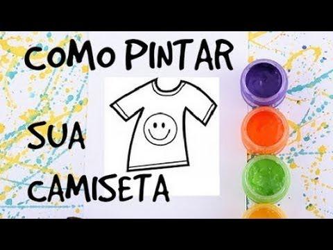 blusas pintadas com tinta de tecido
