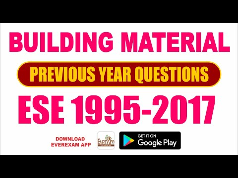 Building Material | ESE Previous Year Questions (1995-2017) | Civil Engineering