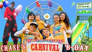 Chase's 6th Birthday CARNIVAL Party! FERRIS WHEEL ALL TO OURSELVES! FUNnel V Vlog thumbnail