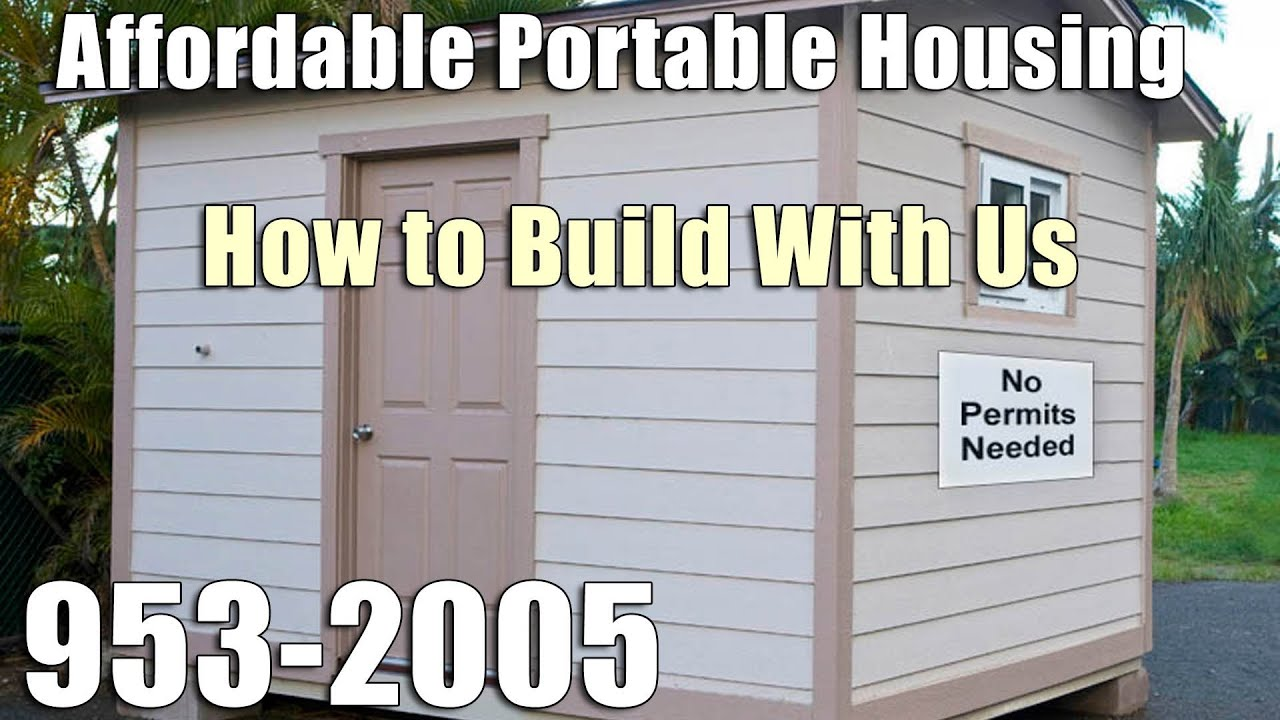 How To Build With Us | 282 0042 | Affordable Portable Housing