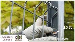 Côté Clôture - Poser du grillage rigide avec plaque de soubassement et des poteaux Easyclip