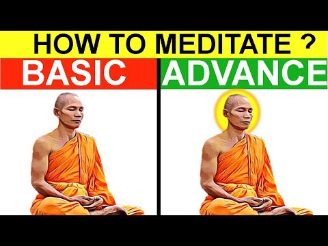 HOW TO MEDITATE (HINDI) ?|मैडिटेशन कैसे करे?| BASIC AND ADVANCE TECHNIQUES