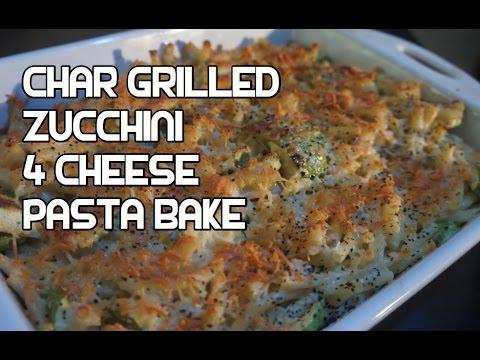 Chargrilled Zucchini 4 Cheese Pasta Bake Recipe - Quattro Formaggi