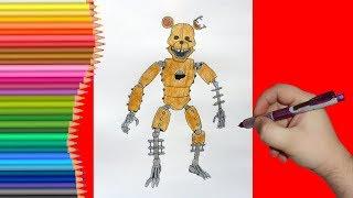 How to draw RAT, FNaC 2, Как нарисовать Крысу, ФНаК 2