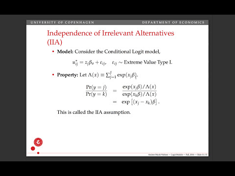 Lecture 16, part 2: The independence of irrelevant alternatives (IIA)