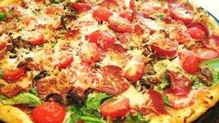 Пицца с папперони и помидорами за полчаса.