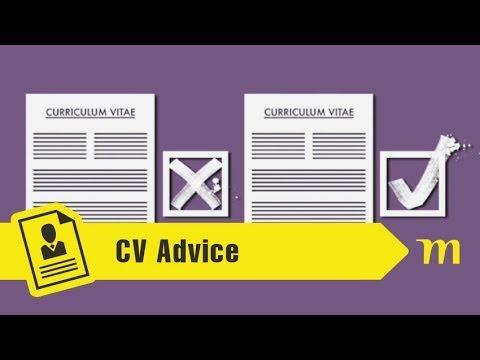 How to Write a CV - YouTube
