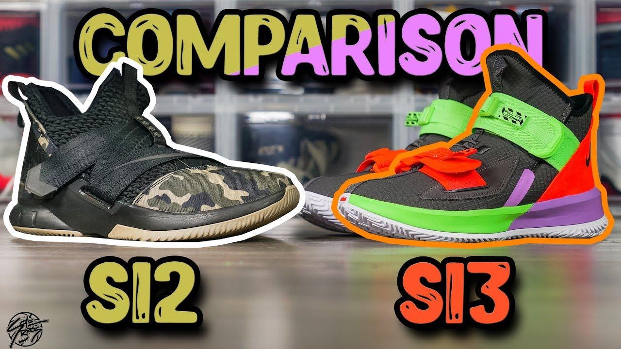 best cheap 47805 afc90 Nike Lebron Soldier 12 & Lebron Soldier 13 Comparison!