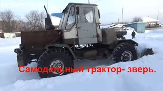 Самодельный трактор - зверь. Техника для деревни.