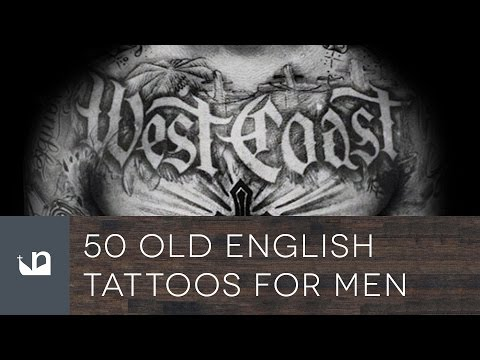 50 Old English Tattoos For Men