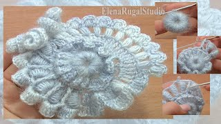 Crochet Freeform Scrumble Tutorial 2 Part 1 of 2 Freeform Crochet Flower