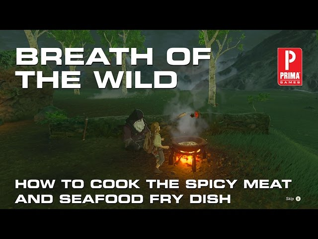Zelda Breath Of The Wild Old Mans Recipe Guide Spicy Meat And