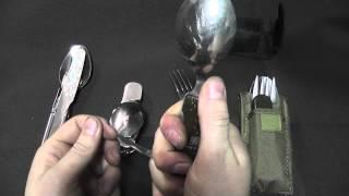 Обзор наборов туриста нож ложка вилка Заключительный