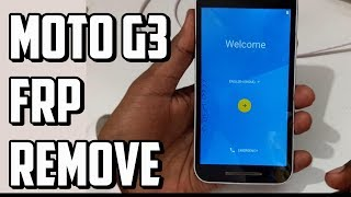 Moto G3 FRP Remove