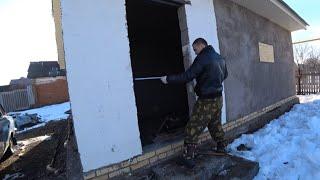 Работы по гаражу.1/1 Стройка гаража в деревне.18 марта 2020