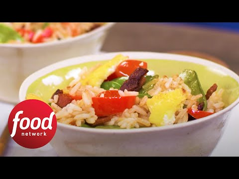 Fried rice with bacon food network youtube fried rice with bacon food network forumfinder Gallery