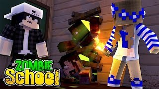 Minecraft School-IT'S A ZOMBIE APOCALYPSE  w/Little Carly and Raven.