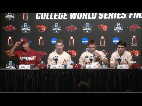 2018 College World Series - CWS Championship Finals Game 3 Press Conference (Arkansas)