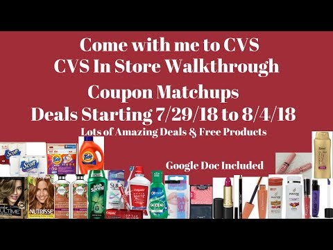 Come with me to CVS.CVS Store Walk through Coupon Matchups Deals 7/29-08/04/18 Lots of Deals & Free!