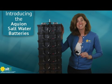 Aquion Energy Salt Water Batteries