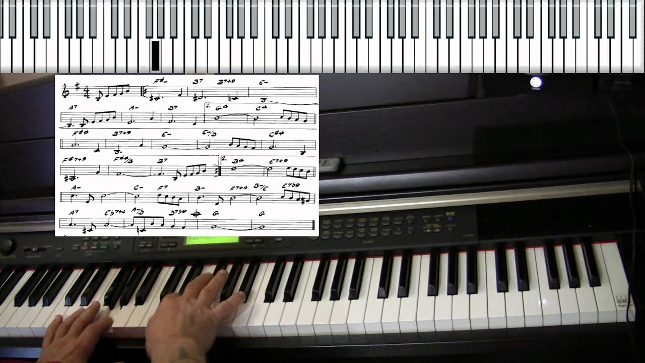 The Shadow Of Your Smile Piano Jazz Cover Yvan Jacques Youtube