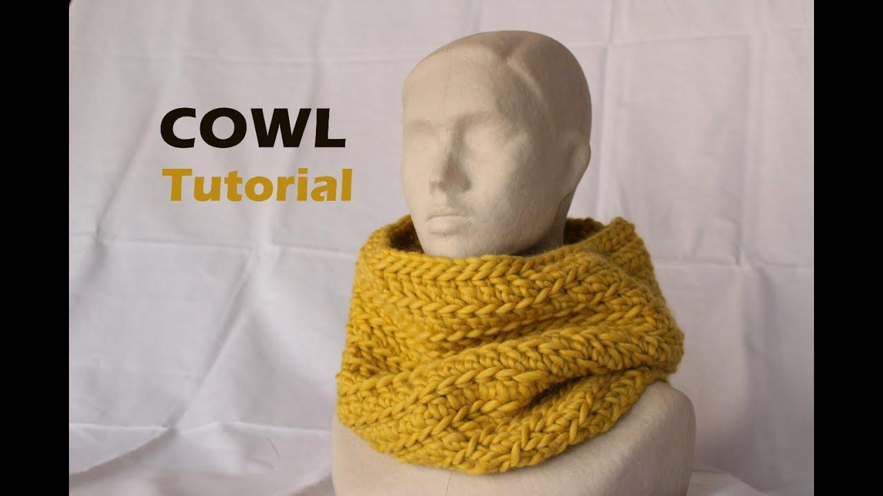 Quick & Easy Bulky Cowl Tutorial [Crochet] - YouTube