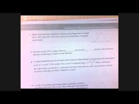 Math 4 Normal Distributions Continued (z scores)