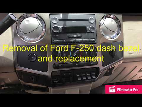 2008-2010 Ford F-250 dash board/dash bezel removal and replacement