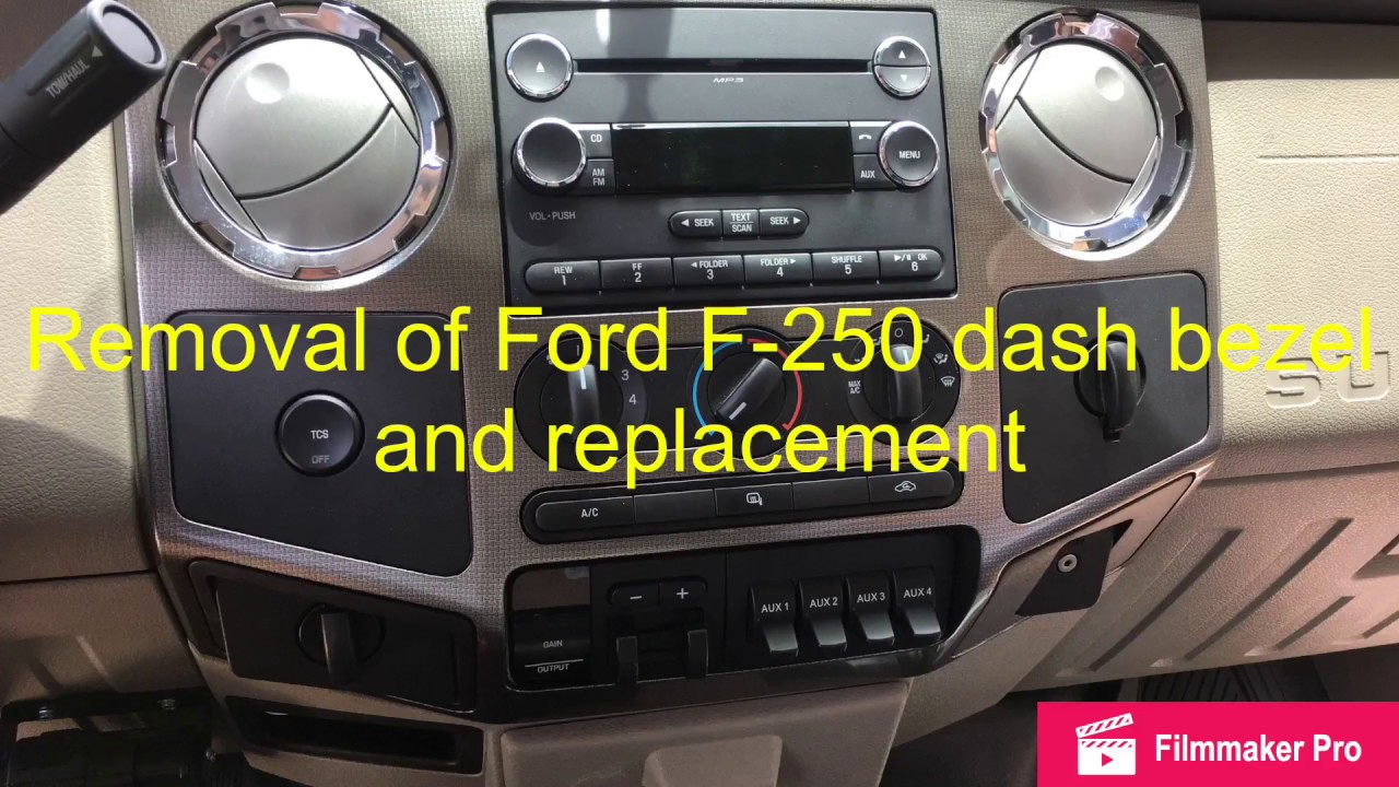 2008 ford f250 radio installation
