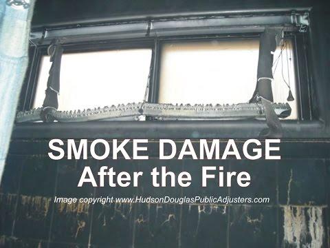 Smoke Damage After the Fire
