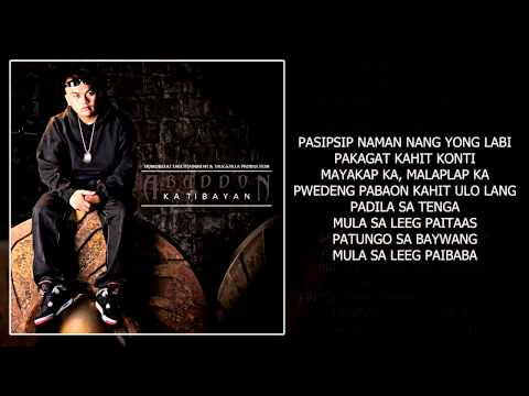 Pasipsip Naman   Abaddon Ft Eman & Third Flo' With Lyrics