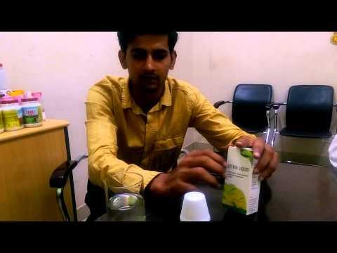 Organic stevia liquid use and demonstration