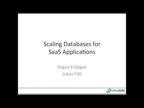 Scaling your SaaS Database with Postgres