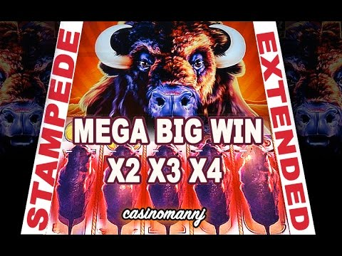 "**STAMPEDE EXTENDED!"" - MEGA BIG WIN! - (Casinomannj) - Slot Machine Bonus - 동영상"