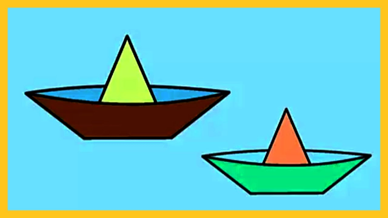 Coloring For Kids, How to Color a Paper Boat, Coloring for Kids, By ...