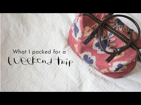 what i packed for a weekend getaway