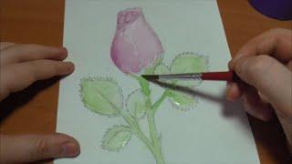 Как нарисовать розу? / How to draw a #rose?(В этом я видео я рисую и рассказываю как нарисовать розу, которая еще не раскрылась. Рисую я акварельными..., 2016-02-23T16:20:48.000Z)