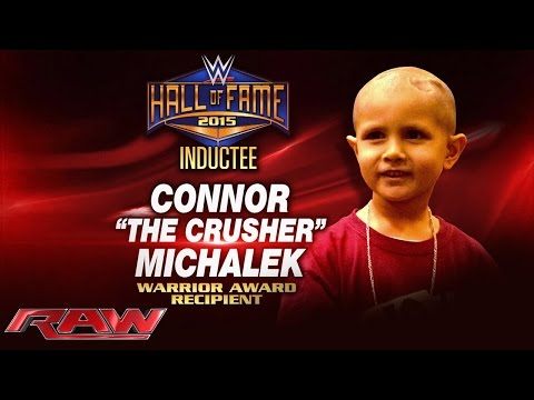 Connor Michalek to receive first-ever Warrior Award at 2015 WWE Hall of Fame: Raw, March 9, 2015